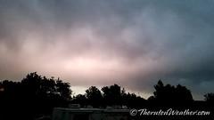 June 6, 2018 - Lightning illuminates the clouds after dark. (ThorntonWeather.com)