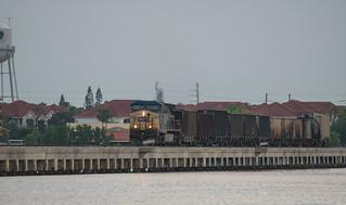 CSX Train crosses the Manatee River