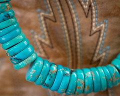Turquoise beads (lclower19) Tags: macrofriday jewelry turquoise boot beads discs necklace macro closeup