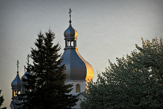 A church at Sandy Lake
