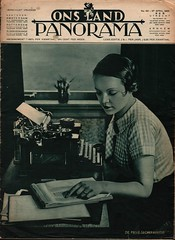 Panorama- ons Land cover 27 april 1934 (janwillemsen) Tags: panorama 1934 magazinecover secretary