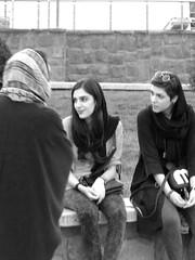 Tehran, 2016 (_EdG_) Tags: iran tehran persia bw blackandwhite girls talking people street