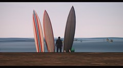 Retirement (Biskveet) Tags: grand theft auto gta gta5 gtav ocean screenshot reshade digital art beach