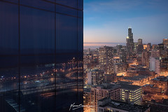 MARQUIS (Nenad Spasojevic) Tags: mirror 2018 citylights byuilding buildings marquis chi marriot nenadspasojevic city night artofchi clouds day edr windycity urbanexploration exploration marquismarriotchicago architecture reflection sunset sonyalpha chicago naturallights urban bluehour nenadspasojevicart light illinois il usa