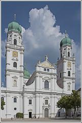 St. Stephen's Cathedral, Passau, Germany (Runemaker) Tags: ststephens ststephan cathedral dom church kirche building gebäude architecture passau germany deutschland bavaria bayern clouds wolken sky heaven himmel