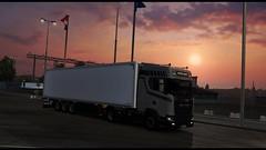 eut2_hq_9 (K a c p e r K W C) Tags: ™zawtan itruckspl scania schmitz skandynawia scandinavia sky sun sunrise clouds poland polska transport express nextgen logistic liner fotorelacje spedycja ferry ets2 euro6 europe road trailer trans truck