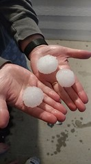 June 18, 2018 - Massive hail in Thornton. (Terri Ott)