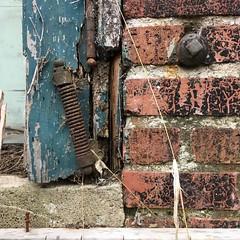 Coming Unhinged (arrjryqp6) Tags: peelingpaint details comingapart decayingthings rusting rust decaying decay hinges oldhinges