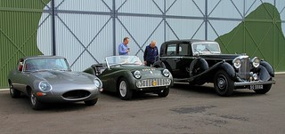 Jaguar E-Type, 1960 Triumph TR3 4264 DU, 1936 Lagonda LG45 SO 5562