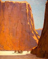 See You in a Few Hours, Plate 2 (Thomas Hawk) Tags: california cantorartscenter canyondechelly canyondechellynationalmonument edgarpayne paloalto southbay stanford stanforduniversity usa unitedstates unitedstatesofamerica horse painting sunset fav10