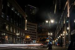 Street Lights (benakersphoto) Tags: nikon nikkor long slow slowshutter exposure longexposure digital sanfrancisco sanfran california city night nightlife car cars light lights colorful skyscraper building architecture tall buildings cityscape