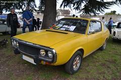 Renault 17 (Monde-Auto Passion Photos) Tags: voiture vehicule auto automobile renault r17 coupé yellow jaune sportive ancienne classique rare rareté rassemblement evenement france courtenay