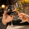 Hands toasting wine. (perfectionistreviews) Tags: indoors color caucasian person female woman women men male man romance couple twopeople 2530years square toasting bodypart hands wine celebration specialoccasion nightlife alcoholicbeverage glasses holding closeup bar beverage dating date drink gesture glass leisure people relationship interaction midadult youngadult alcohol foodanddrink