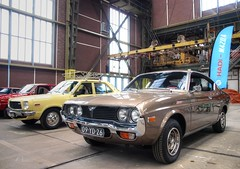 Mazda 818 S Automatic / 929 S Coupe (Skylark92) Tags: nederland netherlands holland noordholland amsterdam noord north ndsm werf yard youngtimer event 2018 onk mazda 1974 01js43 818 s automatic 1976 929 09yd26 car road