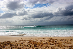 North Shore Beauty (Alison Claire~) Tags: hawaii beach oahu water island america travel travelling amateur canon canoneos canoneos600d waves clouds cloud cloudscape shore north surfing surf sky landscape nature blue green outdoor outdoors