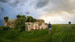 MADAME PRUNE FAIT LA GUEULE (nARCOTO) Tags: lapin rabbit graffitis graff graffiti girl normandie normandy bunker blockhaus