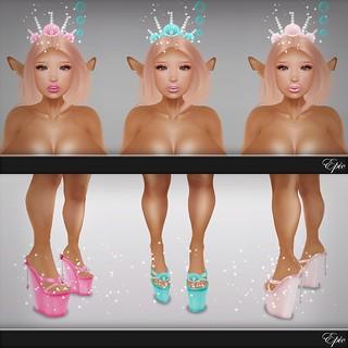 *Epic* Sweet.Mermaid Princess.Tiaras! & Sweet.Seashell Wedges! {Promo Card} Ad ✶Epic's The Secret Affair: Isle of The Devil's Sea Exclusives!✶