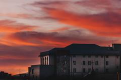 Sky is Burning (FButzi) Tags: genova genoa liguria italy italia architecture building sky sunset red orange sam gopal