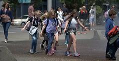 Field Trip (Scott 97006) Tags: kids boys girls fountain water outing school