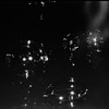 """Still from the short film """"Abstract Metaphor and how to use it"""" depicting the human condition as but a bubble floating on the dark waters of a cold night.  Film Studies Network; check local listings. (Amateur Zen Magazine) Tags: nikon f6 ilford delta400 sb800"""