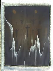 (+) (kudaphoto) Tags: display art menas religija kryžius jėzus kristus jesus pnw northwest pinhole meryhill symbol religion museum crucifix instant polaroid