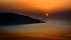 the sun goes down (K.H.Reichert [ not explored ]) Tags: ramla sunset felsen malta sky rocks sonnenuntergang coast gozo sea