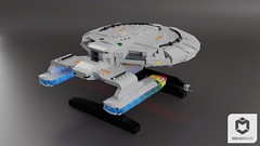 USS Orion (ORION_brick) Tags: lego star trek space uss starship ship generations enterprise class galaxy orion heimdallr render moc