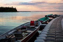 Floating Dock Fishing Boats (matthewkaz) Tags: nagagami nagagamilake lake water boat boats fishingboat fishingboats dock floatingdock sky clouds reflection reflections sunset fishing fishcamp expeditionsnorth ontario canada 2016