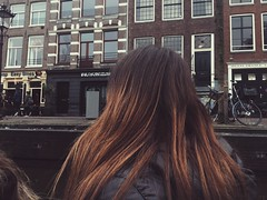 (maycambiasso98) Tags: netherlands europe europa outdoor colour color cold winter house houses water boat holanda see lifestyle hair woman travel canalls canal amsterdam me girl