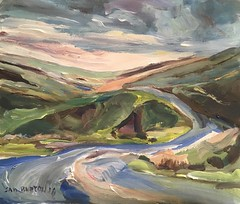 Dales winding road (Captain Wakefield) Tags: expressionist abstract mountain road acrylic art impressionist hills dales yorkshire landscape burton samuel painting