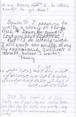 automatic writing project #2 pg78 (ms. neaux neaux) Tags: dawnarsenaux automaticwritingproject2 freewrite communityjournal realpeople writing words letters text handwriting