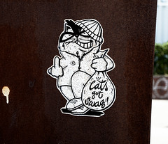 HH-Wheatpaste 3743 (cmdpirx) Tags: hamburg germany reclaim your city urban street art streetart artist kuenstler graffiti aerosol spray can paint piece painting drawing colour color farbe spraydose dose marker stift kreide chalk stencil schablone wall wand nikon d7100 paper pappe paste up pastup pastie wheatepaste wheatpaste pasted glue kleister kleber cement cutout