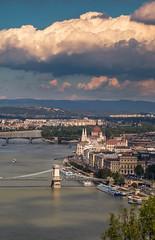 Budapest (Vagelis Pikoulas) Tags: budapest buda pest hungary travel tokina 2470mm view landscape city cityscape canon 6d europe urban sky clouds bridge chain parliament danube