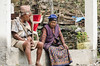 """I'm Gonna Make You An Offer You Can't Refuse"" (sakthi vinodhini) Tags: nepal village old lady sherpa abc annapurna backpack trek traditional costume couple elderly"