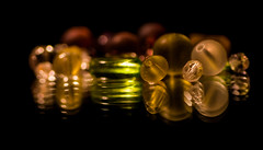 golden and green (marinachi) Tags: golden green mirror beads
