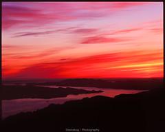 Burning sky (Steinskog) Tags: 120mm pentax67ii velvia50 mediumformat analogue film sunset ulriken bergen norway summer