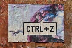CTRL + Z (Bim Bom) Tags: god creation michelangelo sistinechapel streetart poster pastedpaper rome roma roma20185l