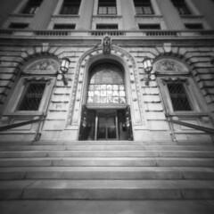 Cleveland Public Library, No.1 (summit-photo) Tags: pinhole realitysosubtle 6x6 6x6f square 120 fujifilm fuji acros neopan rodinal semistand