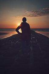 looking ahead (christian mu) Tags: norderney germany sunset christianmu buhne water sea northsea ocean beach strand meer meineinsel sony sonya7riii sonya7rm3 zeiss 252 25mm batis252 batis milchbar