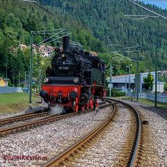 historic steam locomotive (Steffi.K.) Tags: rot enztalbahn uef historic steam locomotive badenwürttemberg black red schwarz dampflok