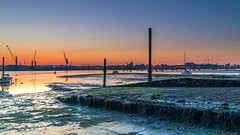Southampton Water Low Tide (nicklucas2) Tags: marchwood magazinelane path river test dawn yacht crane port docks southampton