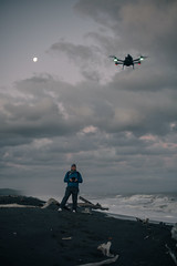 The moon, Tim and his Drone (michael spear hawkins) Tags: beach lenstagger nz newzealand whakamahia whakamahiabeach a7riii adaptedglass adaptedlens afternoon clouds crash driftwood hawkesbay lastlight lighthouse logs night northisland outside sand sany shore sony sonymirrorless splash sunset travel twilight vintageglassvintagelens wairoa water waves