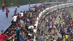 Bangladeshi Travelers Ride On Overcrowded Train ahed of Eid (auniket prantor) Tags: adha adult asia asian bangladesh bangladeshi branch carriage carriageway carrying city color countries crowd crowded crowed daily danger day developing door dwellers editorial eid ethnicity family festival going green home horizontal image journey life livelihood living majority migration muslim outdoor passenger people poor poverty railway riskey roof rural sitting south station subcontinent third top tourism train transport transportation travel village world eidalfitr dhaka photographer photojournalist