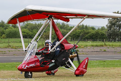 G-KWKX - 2015 build P & M Aviation QuikR Explorer, shortly after arrival at Eshott during the 2016 Great North Fly-in (egcc) Tags: 2016greatnorthflyin 8724 eshott evans flexwing flyuk gkwkx greatnorth greatnorthflyin lightroom microlight pmaviation quikr weightshift
