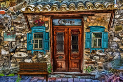 past times - coffee shop (sw2018) Tags: art street old town village wall door window colour home shop coffee house wood vintage