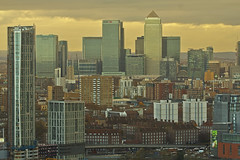 Civilization (Canary Wharf from ArcelorMittal Orbit, London, United Kingdom) (AndreaPucci) Tags: canarywharf london uk arcelormittal orbit view andreapucci isleofdogs docklands