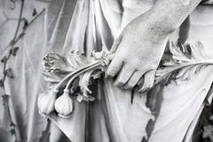 Opiod (polaristest) Tags: women trastevere plantpod crumpled art sculpture opiumpoppy dreamlike hope spirituality dirty old entertainment closeup humanhand poppy flower marble weathered symbol