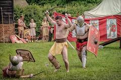 Behind You (Cheesy_Nacho) Tags: roman gladiator britannia fight show reenactment chilternopenairmuseum reenacting history fighting