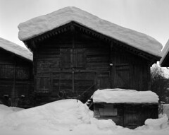 (mister.gregster) Tags: goms switzerland winter snow wood building 4x5 ebony sw45 rollei 25 xtol