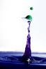 Spring Hat (TegansMuse) Tags: pluto plutotrigger waterdrop drop collision purple green highspeedphotography splash
